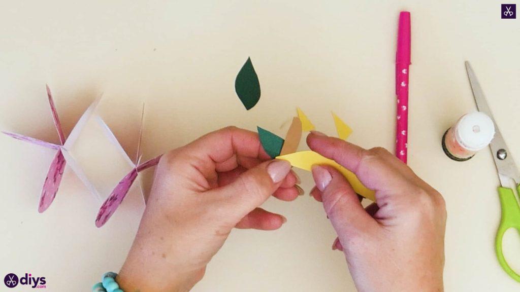 کاغذ 3D سیب مرحله 8a