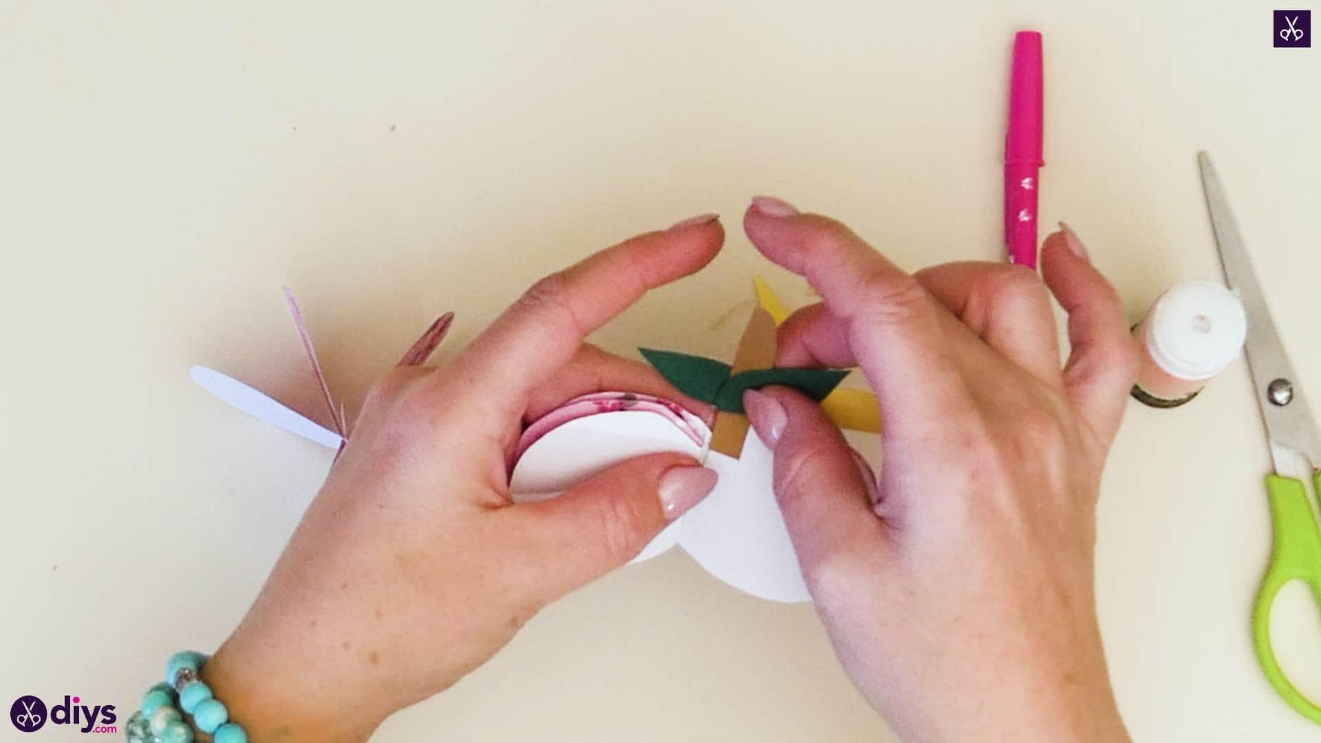 3d paper apple step 9d