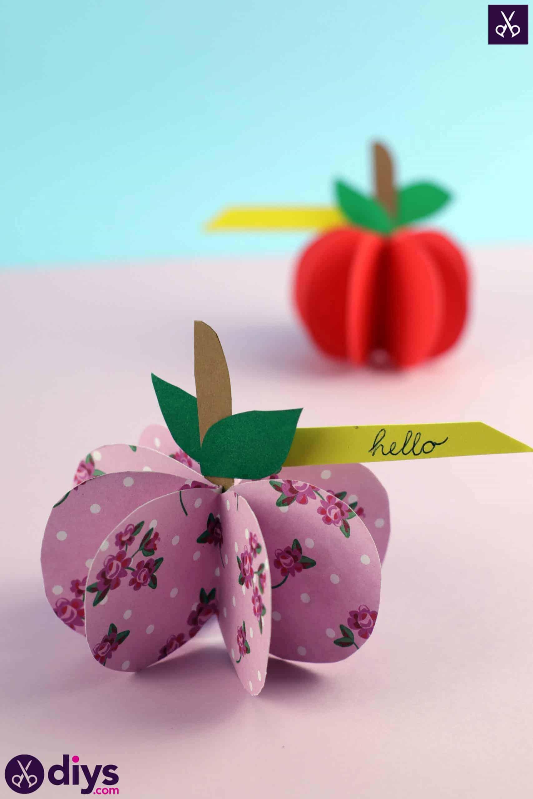 3d paper apple