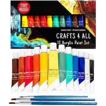 Acrylic paint set by crafts 4 all