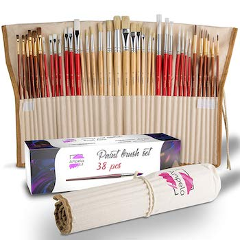 Ampela paint brush set with 38 pieces