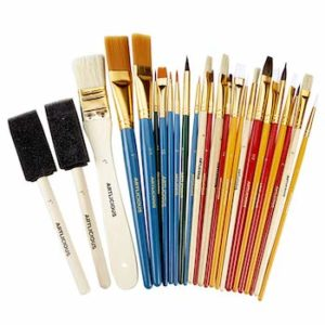 Artlicious 25 All Purpose Paint Brush Value Pack