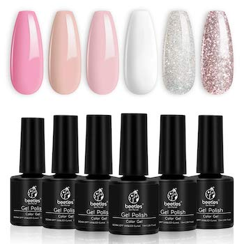 Beetles french white gel nail polish kit