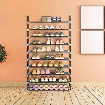 Blissun space saving shoe rack
