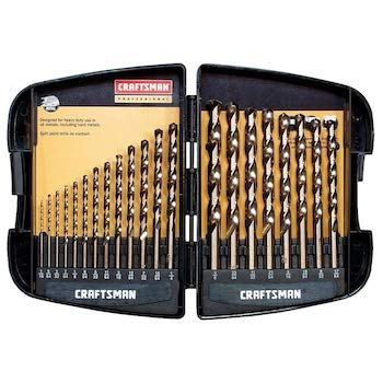 Craftsman 9 64085 professional cobalt drill bit set