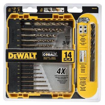 Dewalt cobalt drill bit set