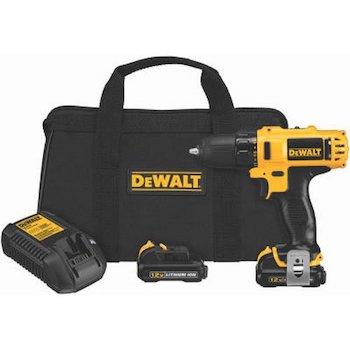 Dewalt dcd710s2 12 volt max 3:8 inch drill driver kit