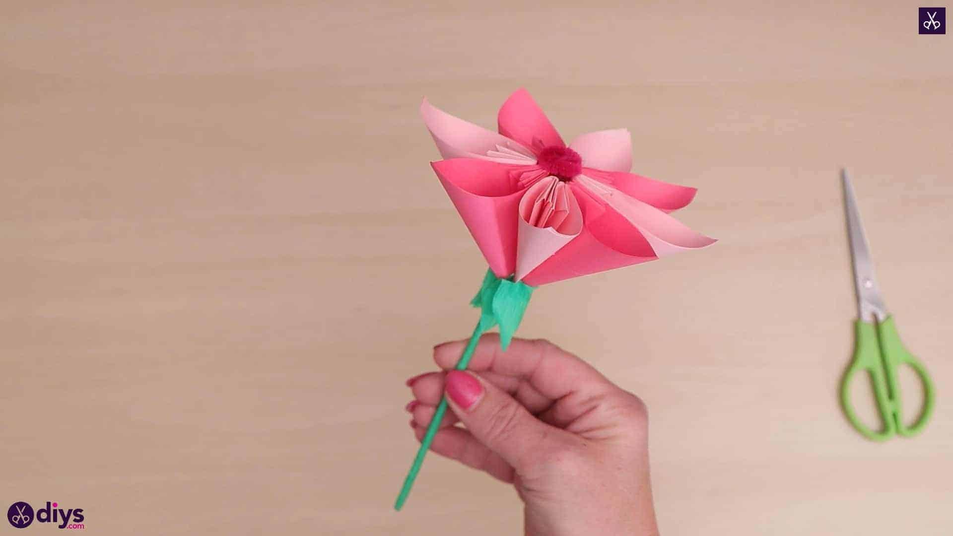 Diy 3d paper flower