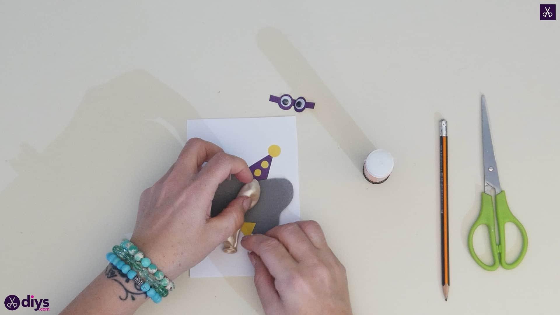 Diy balloon elephant card step 10