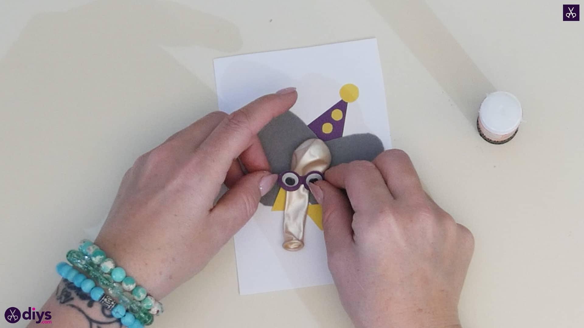 Diy balloon elephant card step 11