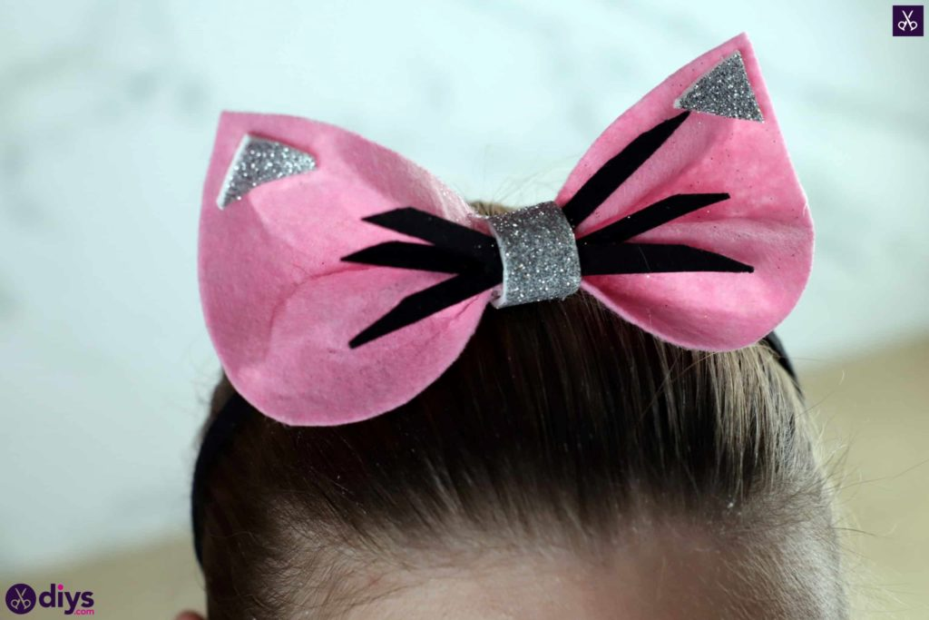Diy cat ears headband craft
