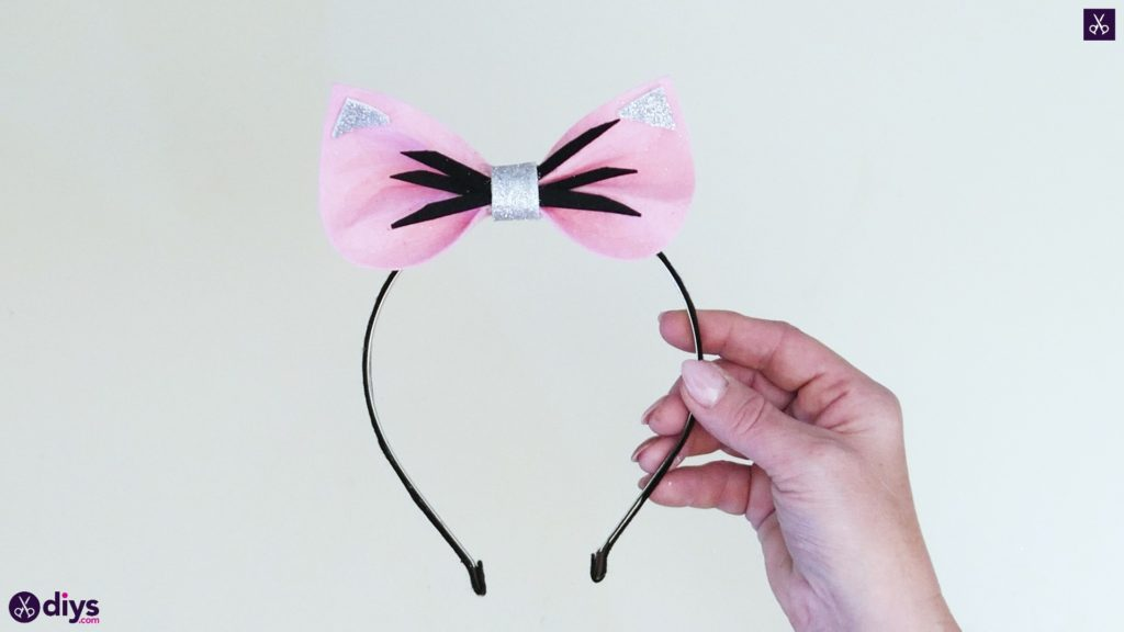 Diy cat ears headband step 10b