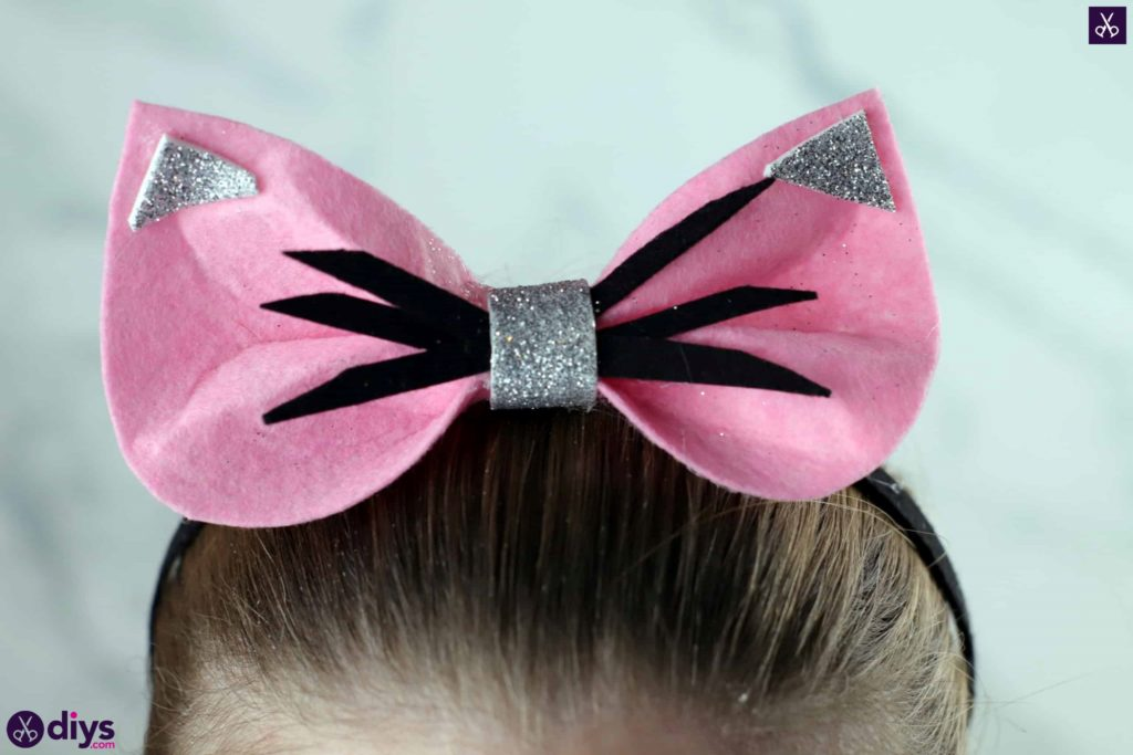 Diy cat ears headband step 10c