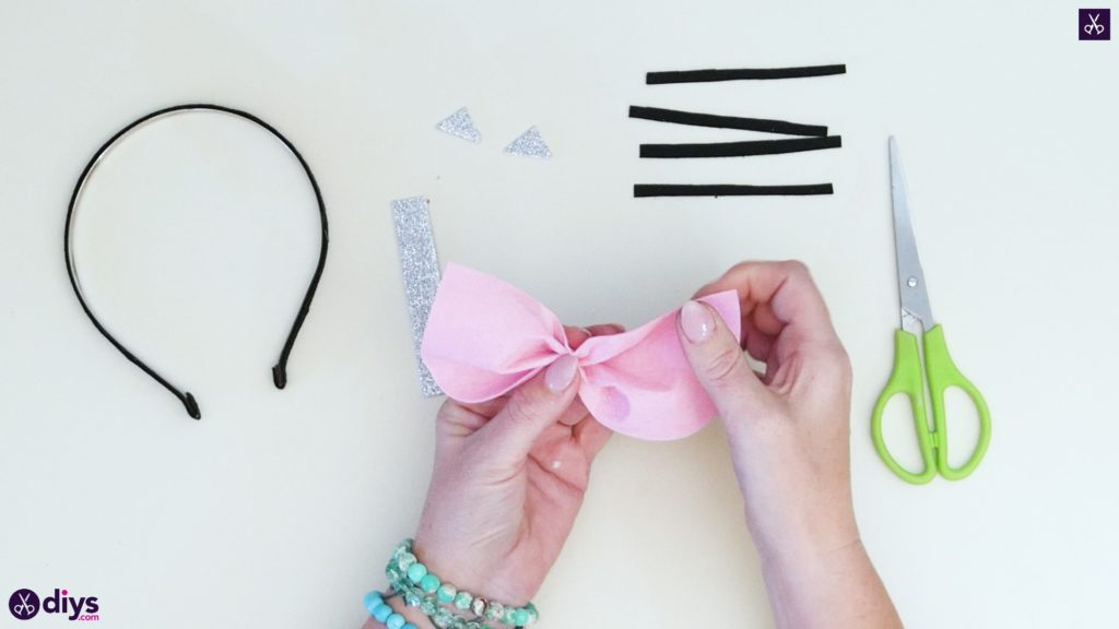 Diy cat ears headband step 5b