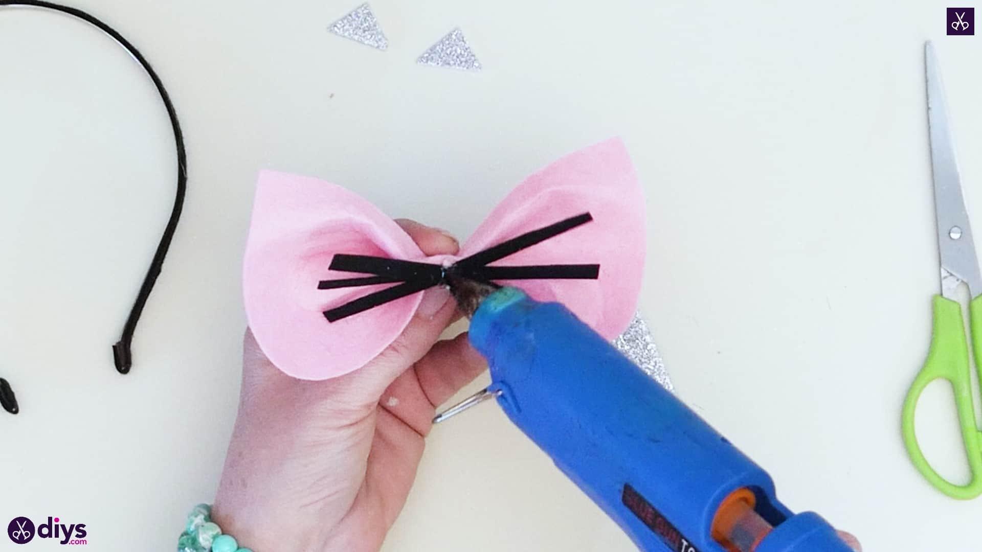 Diy cat ears headband step 7
