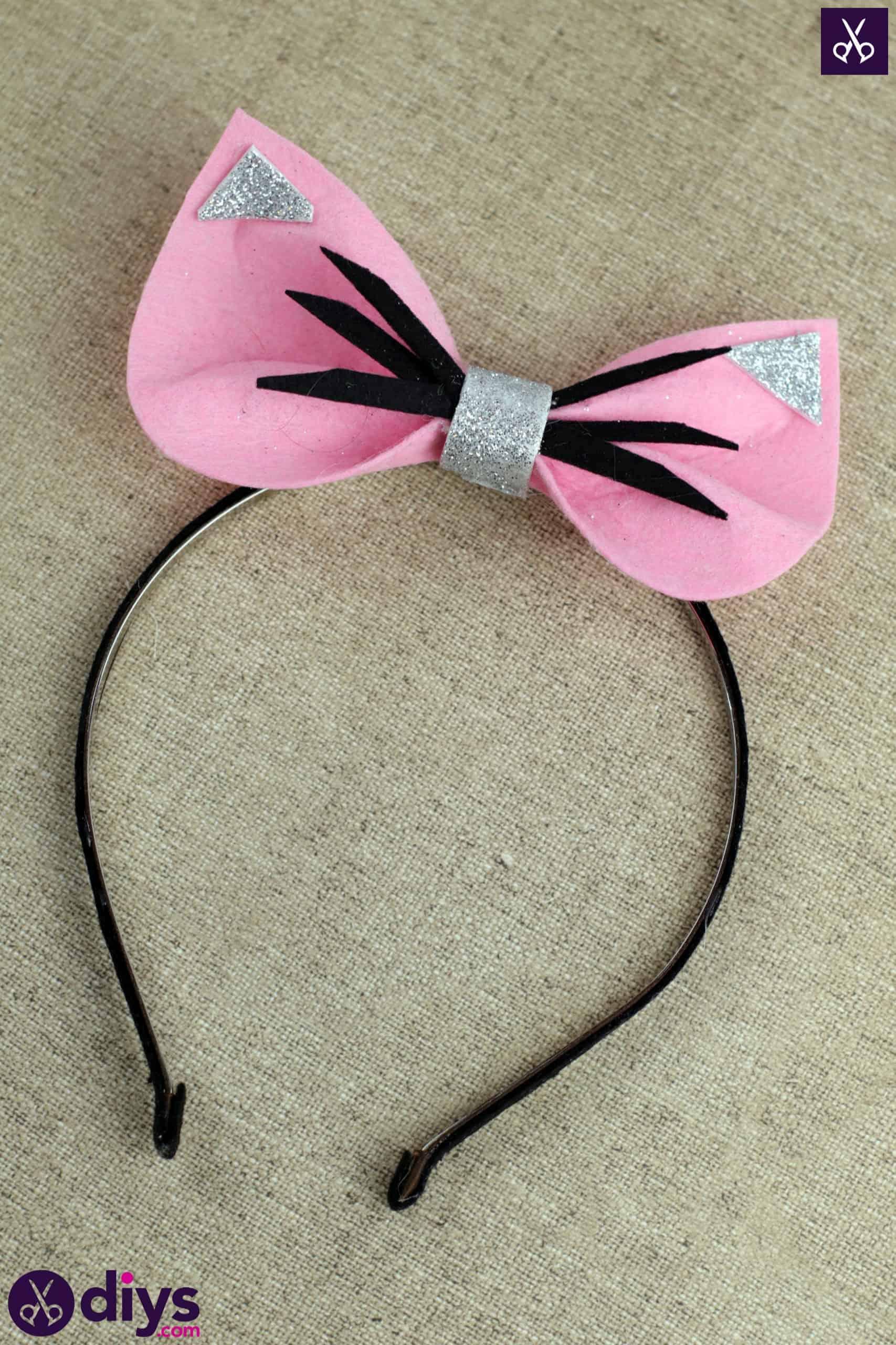 Diy cat ears headband