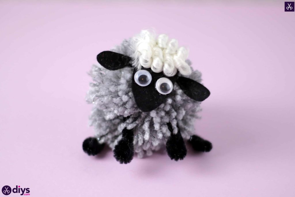 Diy funny pom pom sheep for kids crazy craft