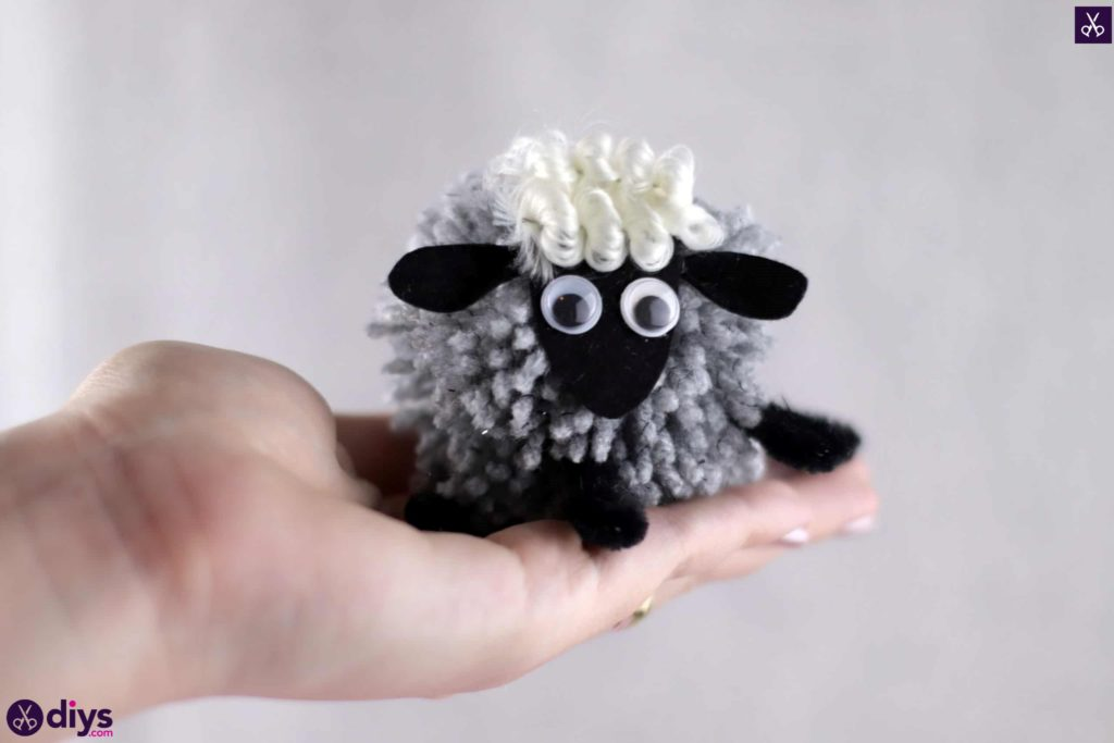 Diy funny pom pom sheep for kids school crafts