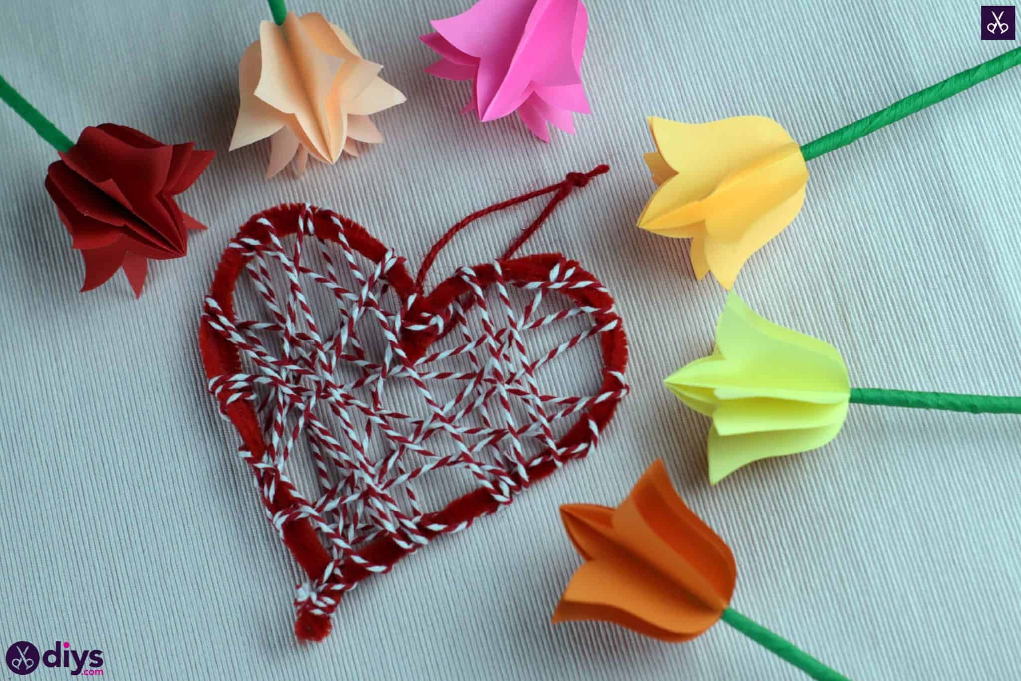 Diy hanging heart wall decor step 1b