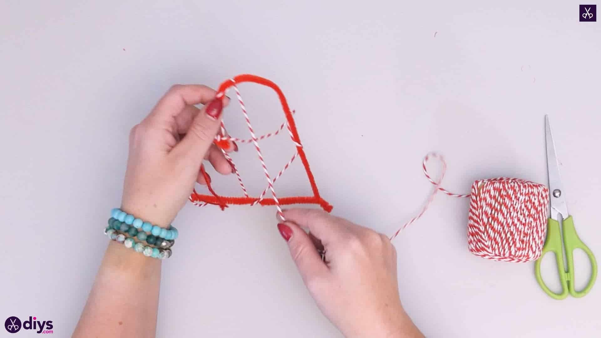 Diy hanging heart wall decor step 4c