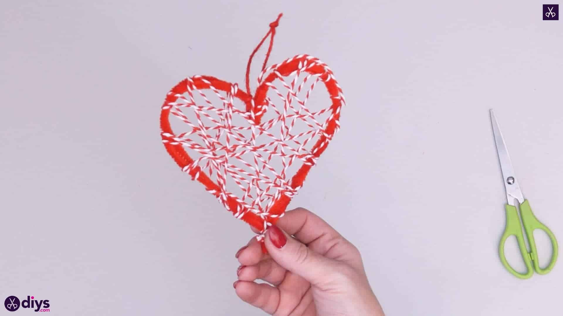 Diy hanging heart wall decor
