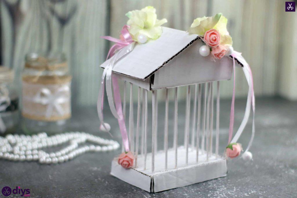 Diy miniature cage centerpiece cardboard