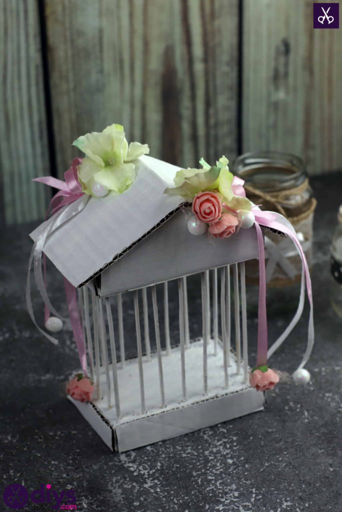 Diy miniature cage centerpiece decor