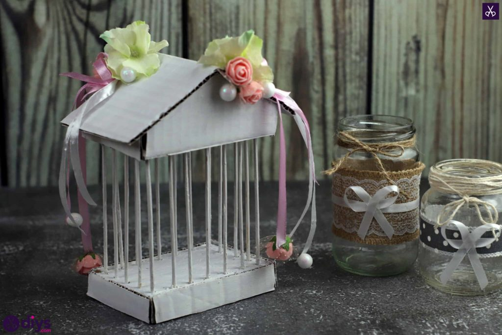 Diy miniature cage centerpiece display
