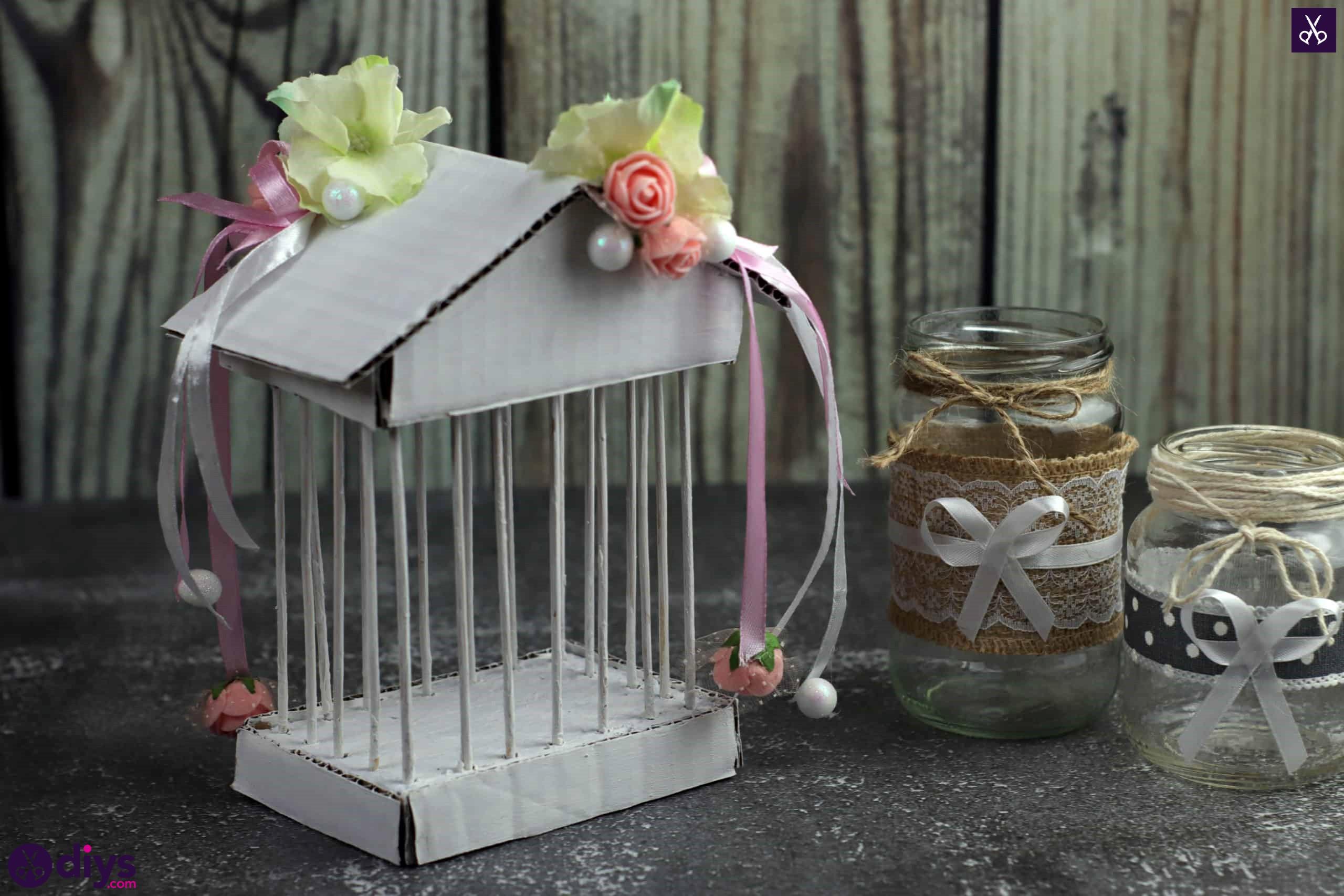 Diy miniature cage centerpiece display