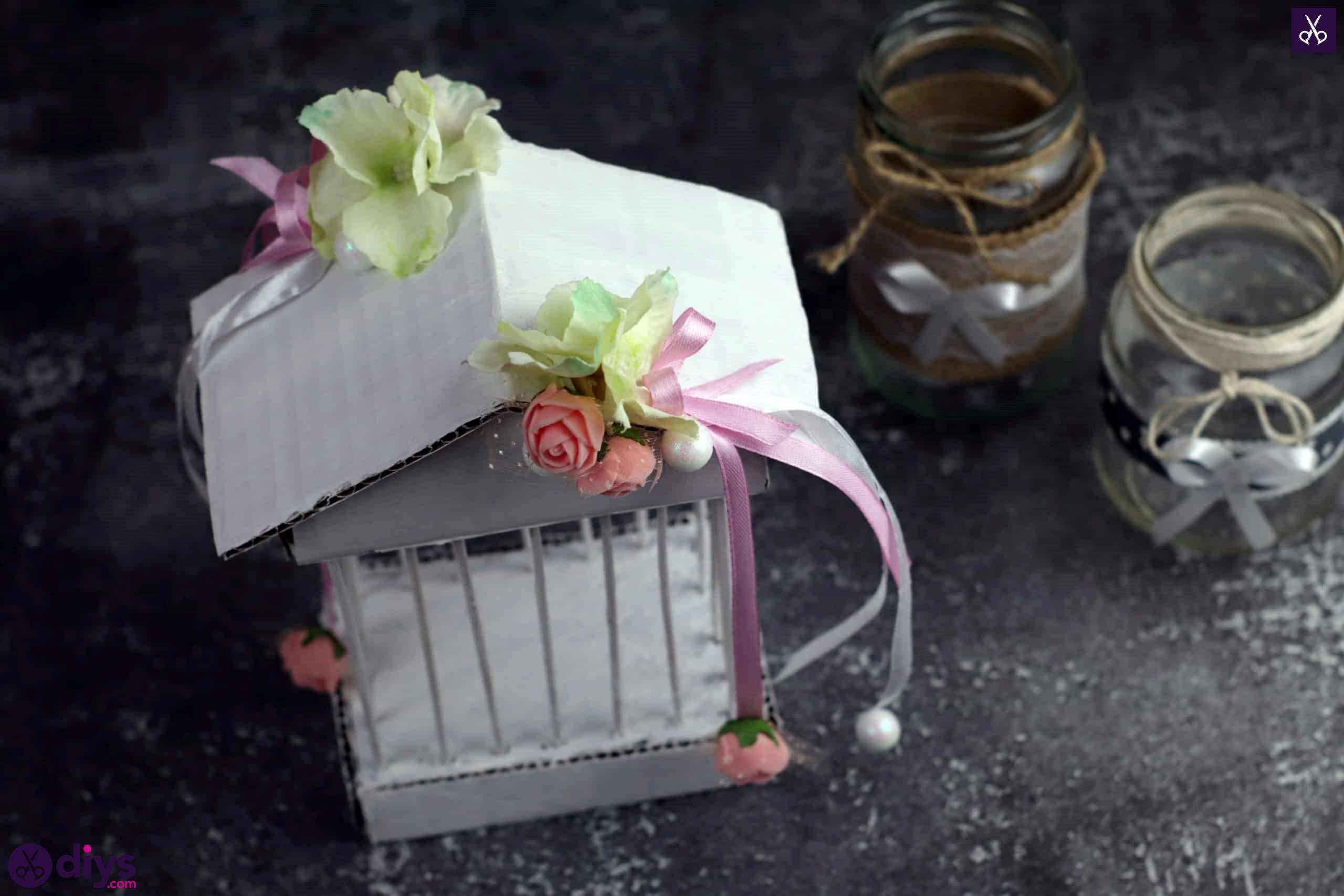Diy miniature cage centerpiece for table