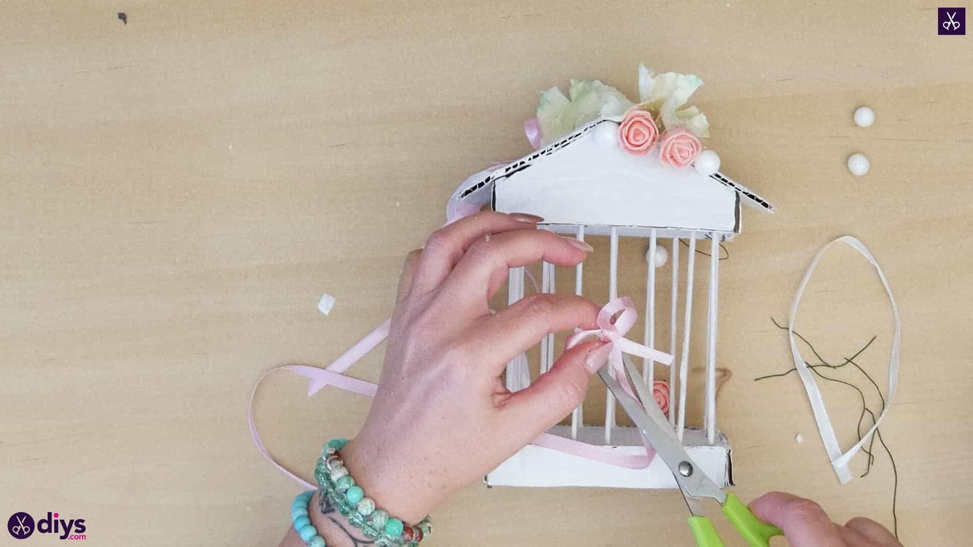 Diy miniature cage centerpiece step 10m