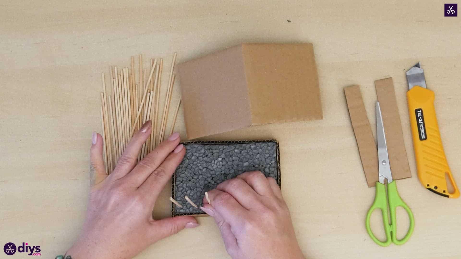 Diy miniature cage centerpiece step 7