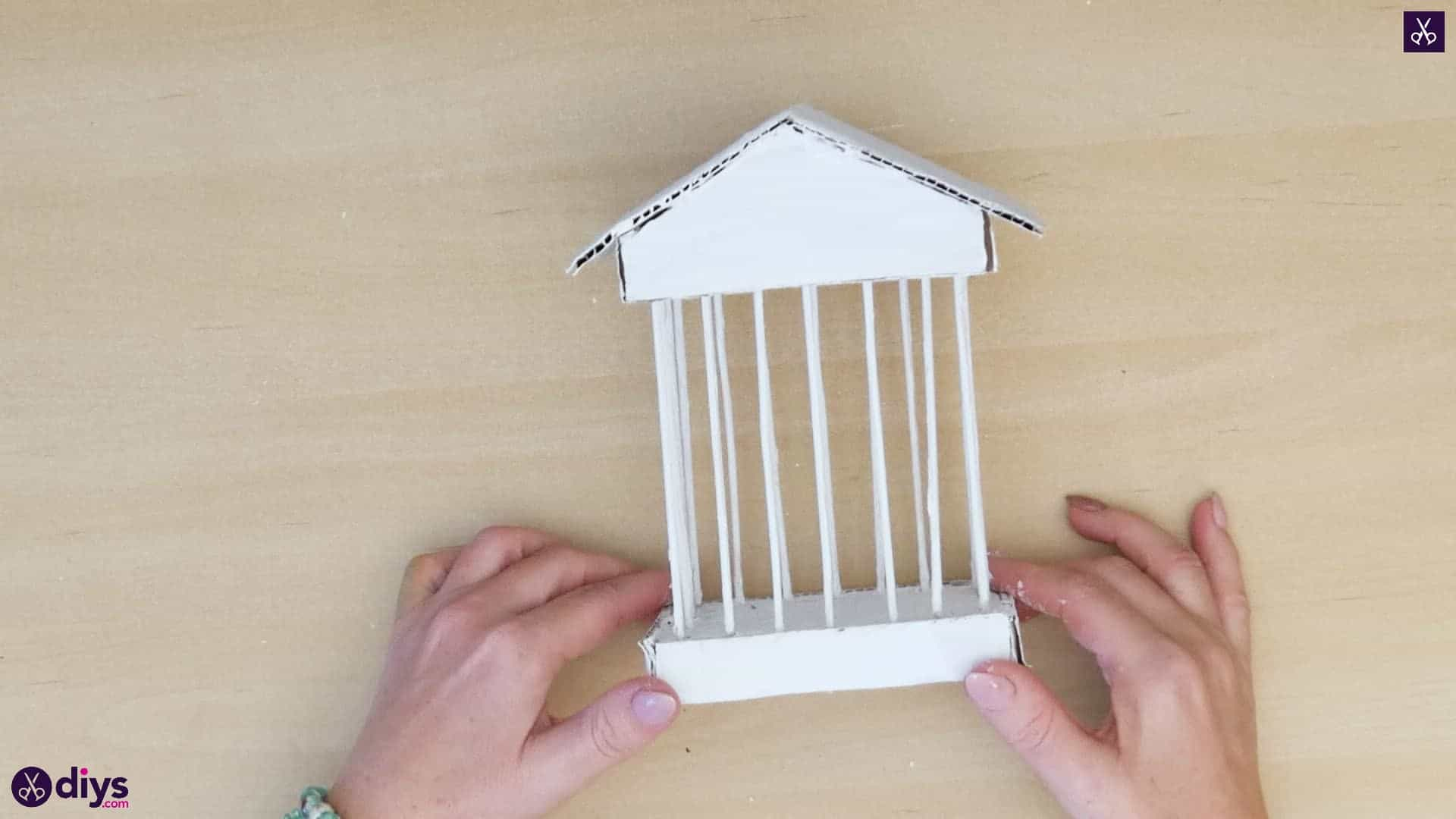 Diy miniature cage centerpiece step 9b