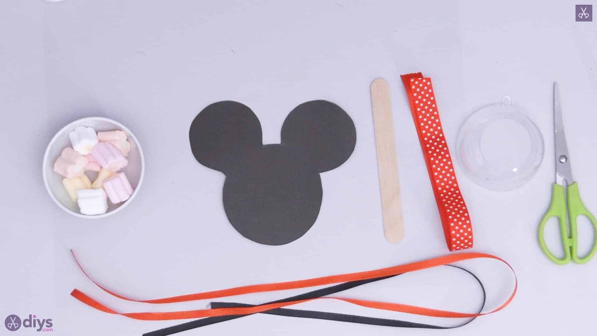 Diy minnie mouse candy holder materials cutting