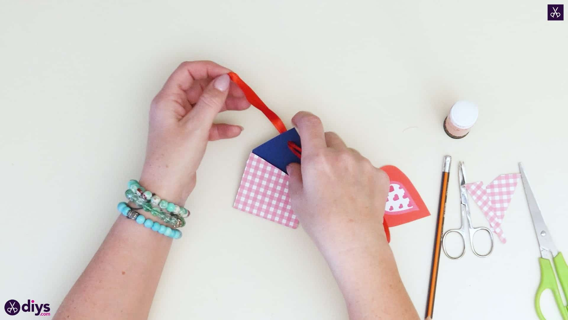 Diy pocketed gift tags step 7b