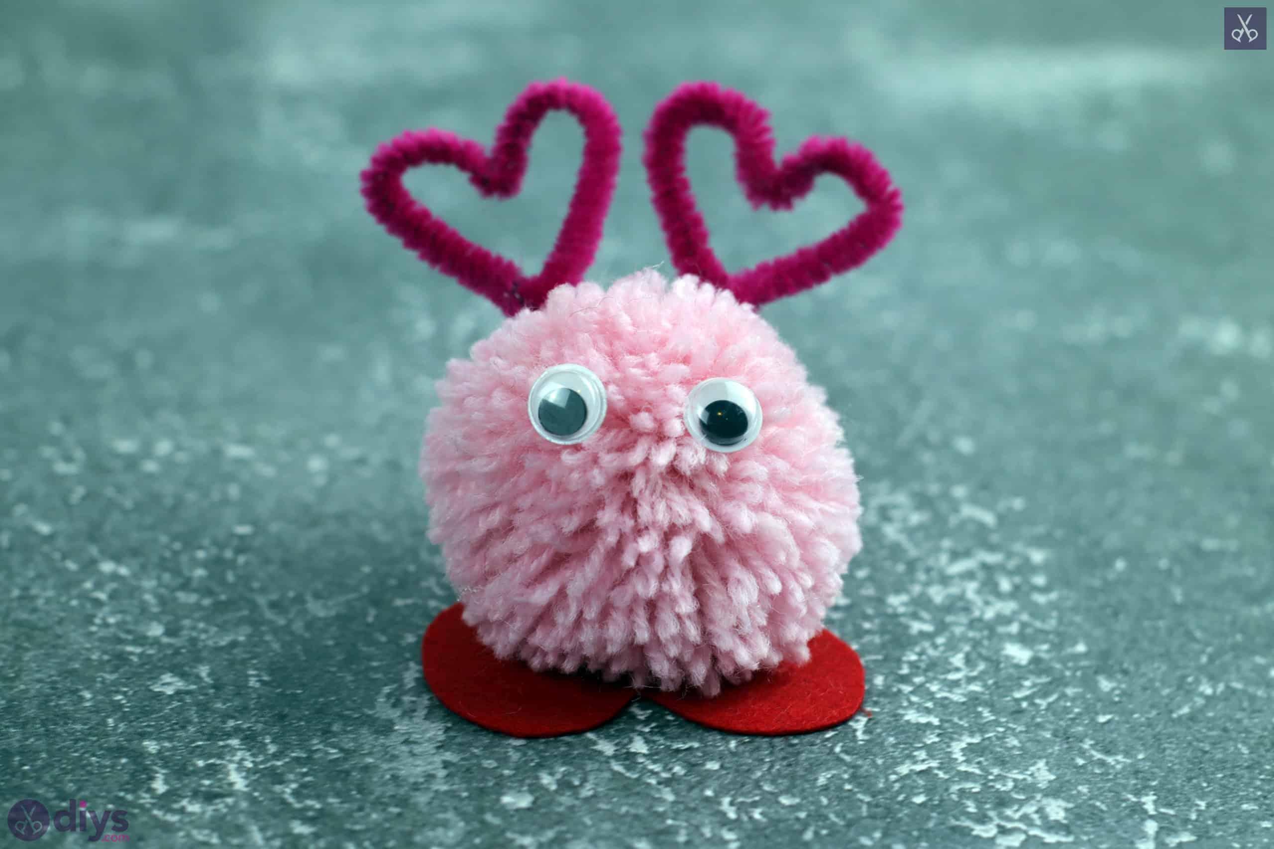 Diy pom pom love monster craft