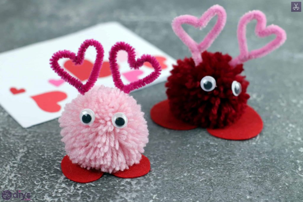 Diy pom pom love monster sinple