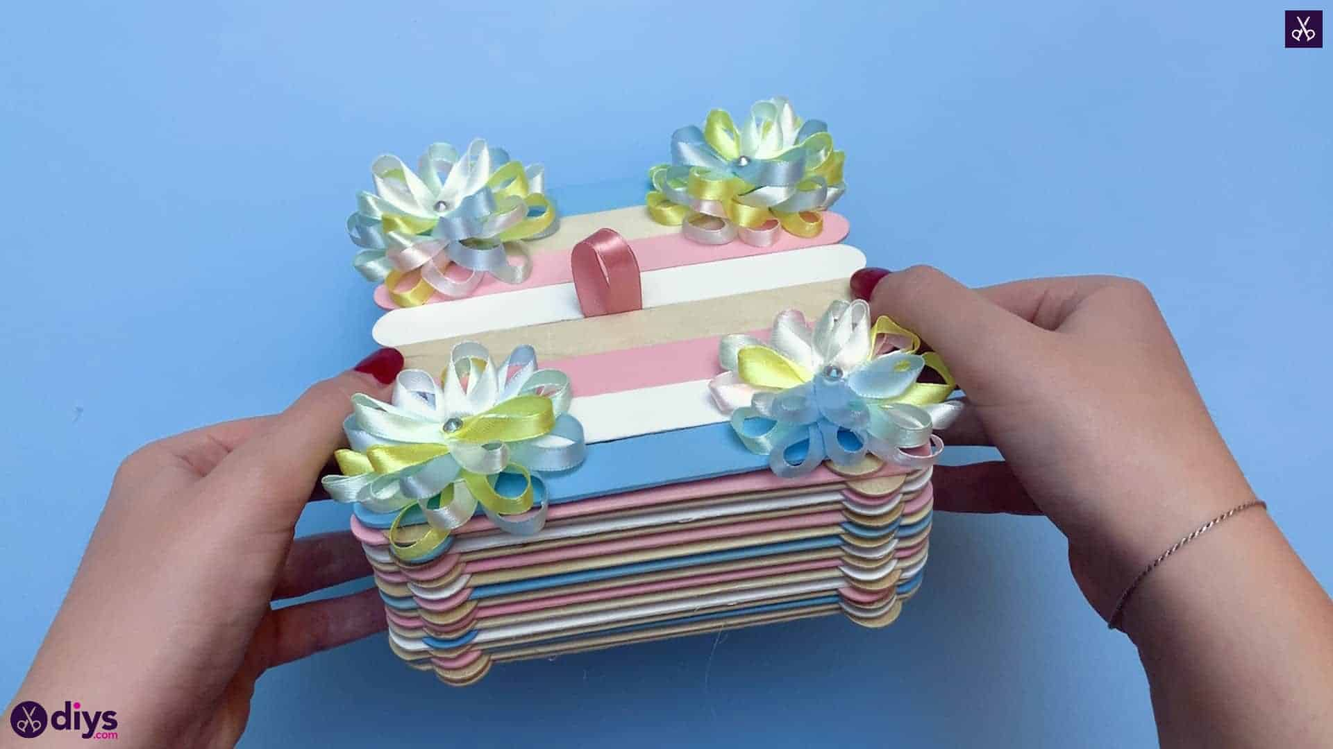 Diy popsicle stick jewelry box