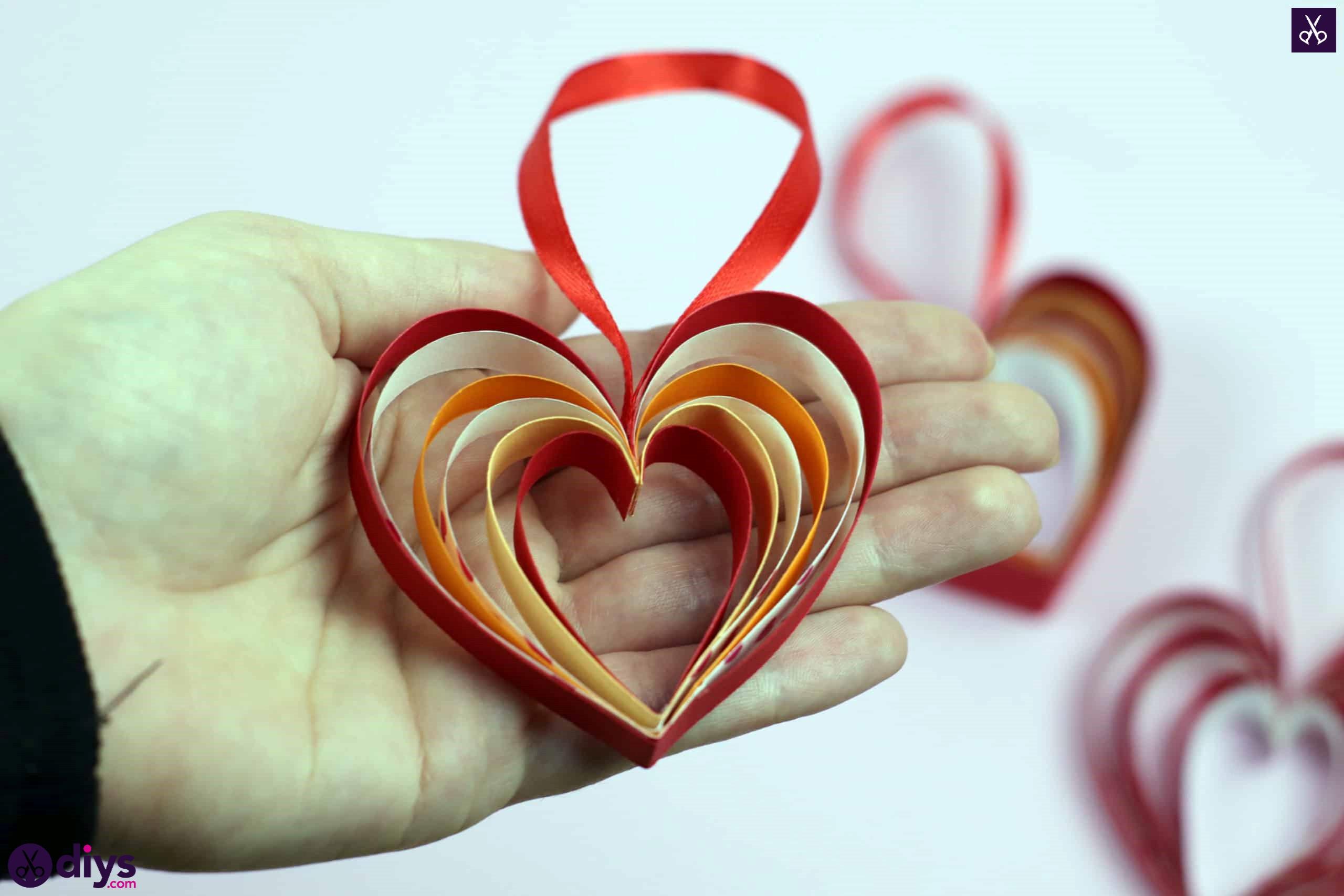 Diy ribbon heart easy