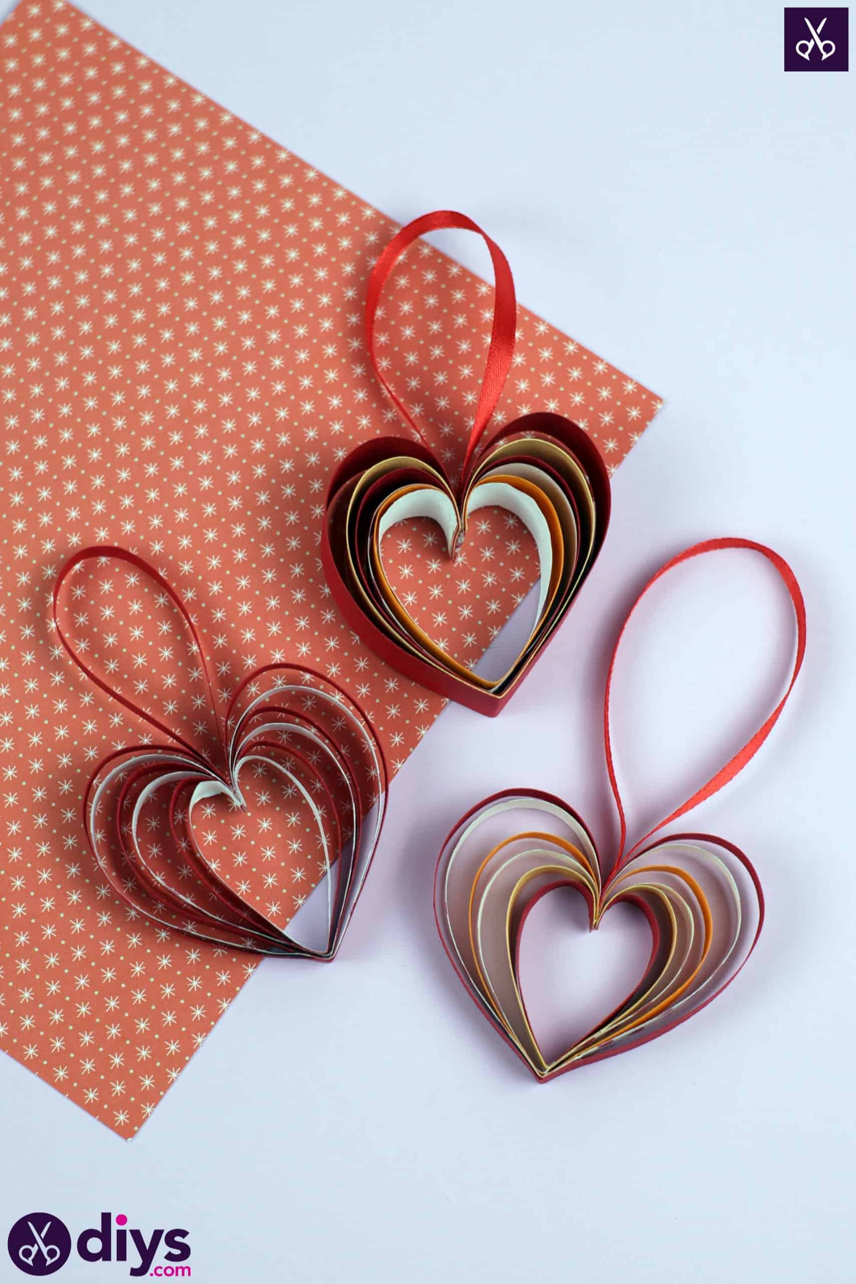 Diy ribbon heart project