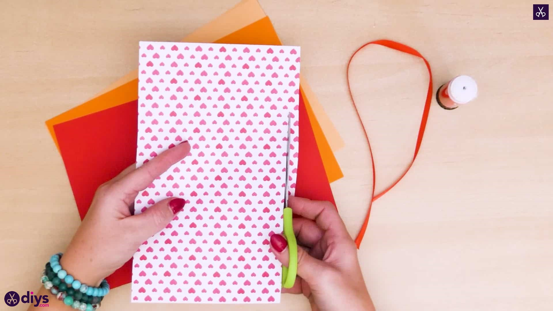 Diy ribbon heart step 2