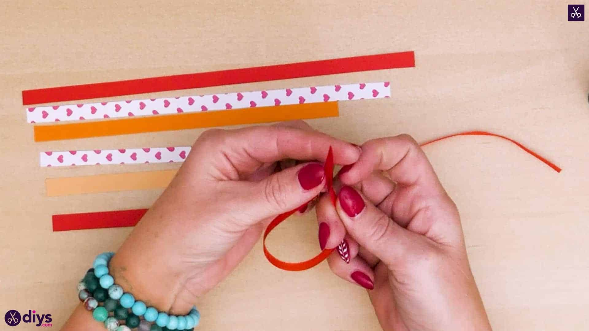 Diy ribbon heart step 4a