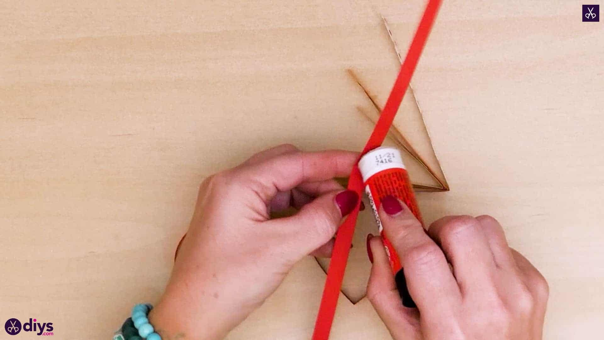 Diy ribbon heart step 6a