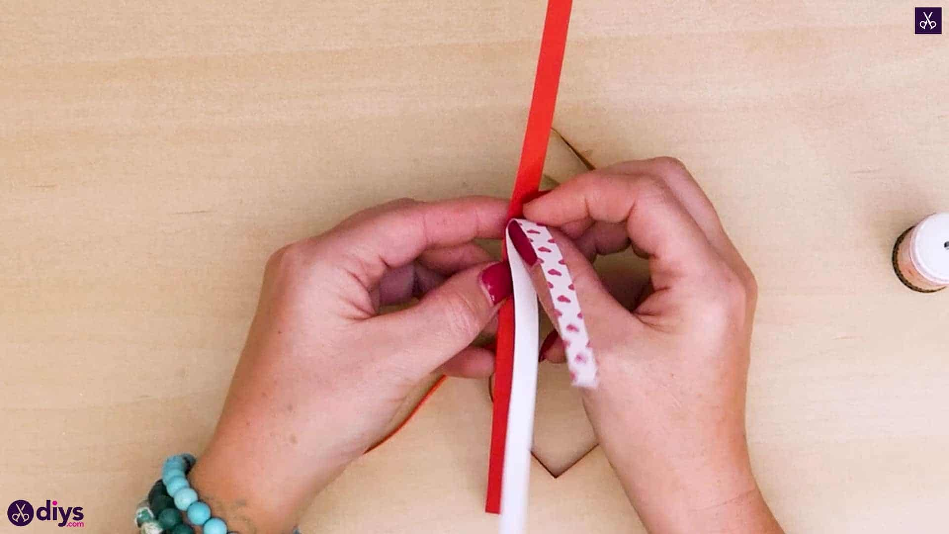 Diy ribbon heart step 6b