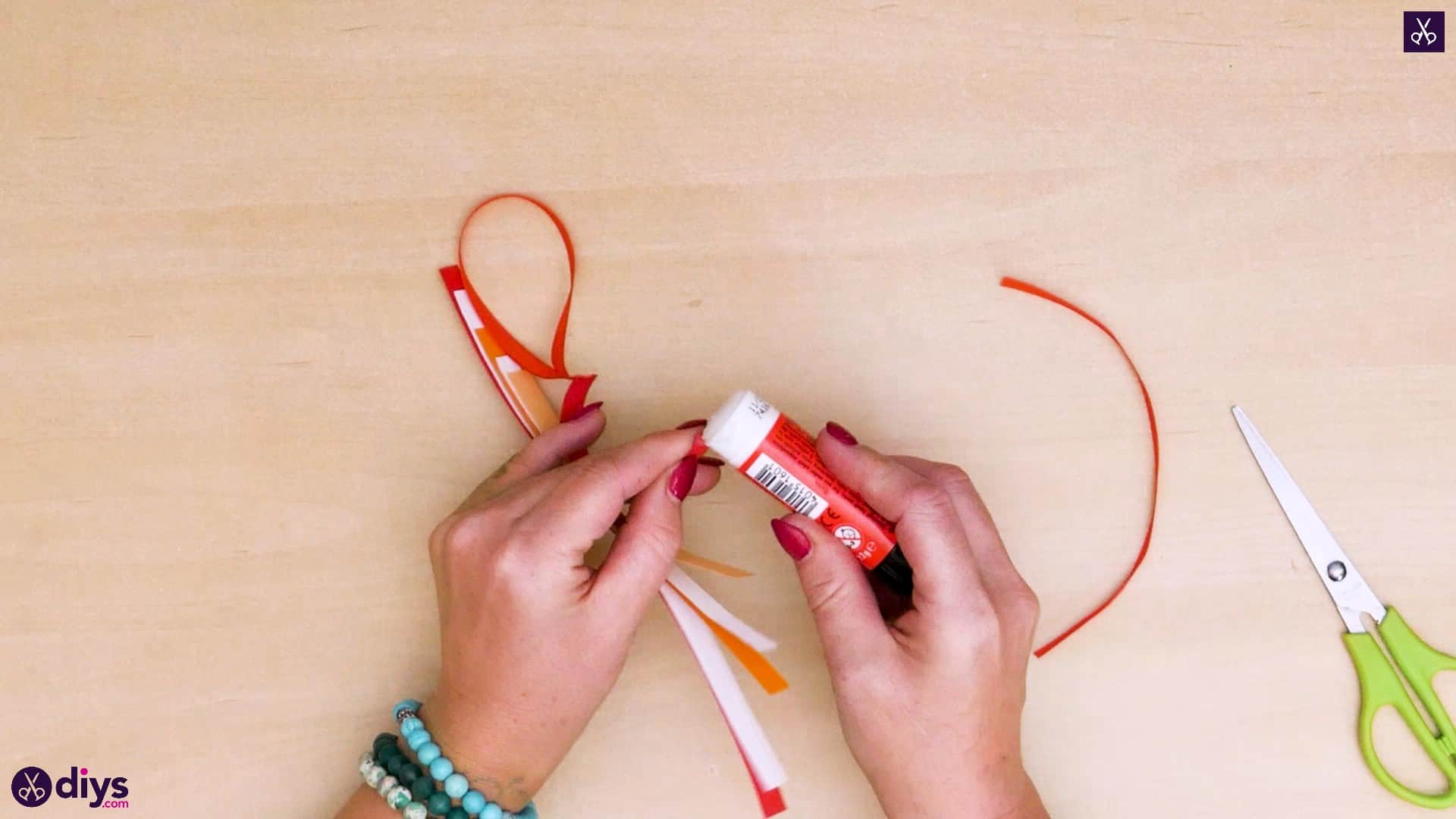 Diy ribbon heart step 6h