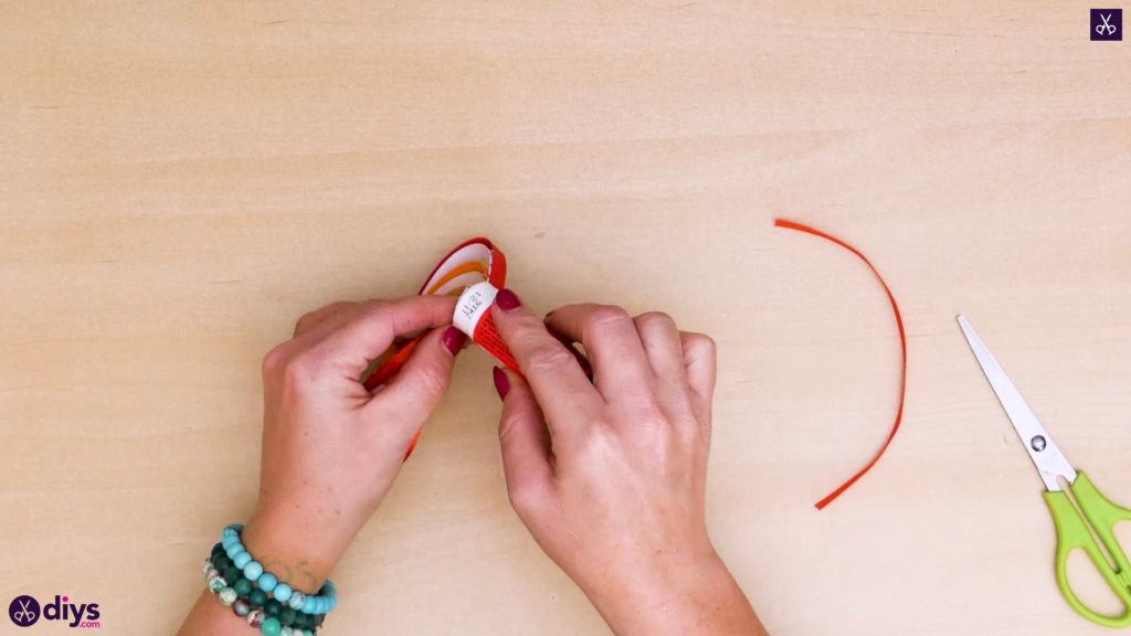 Diy ribbon heart step 9