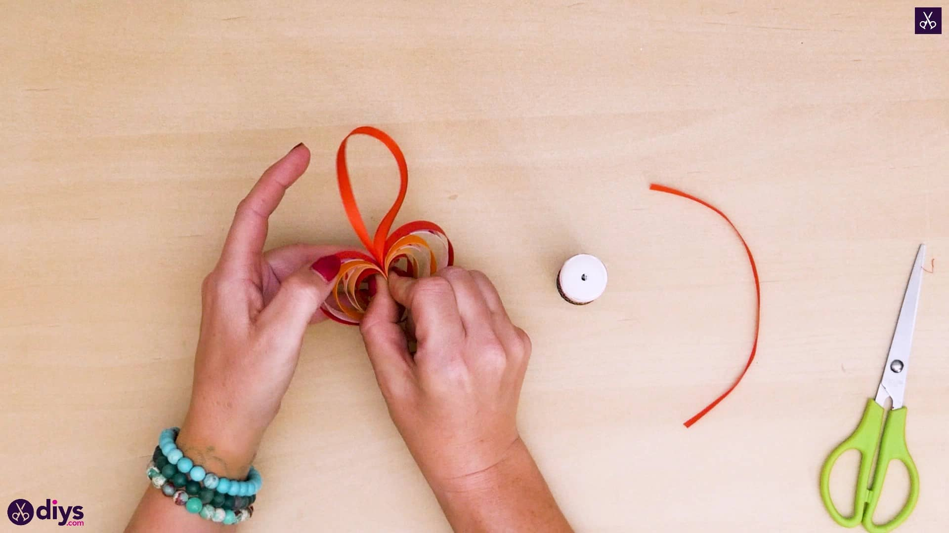 Diy ribbon heart step 9a