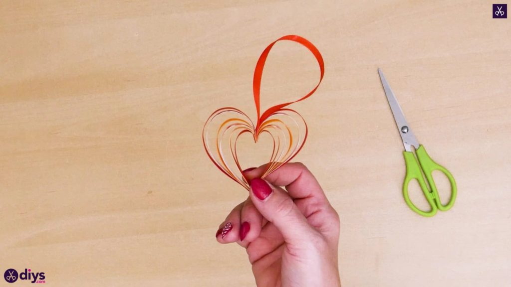 Diy ribbon heart step 9b