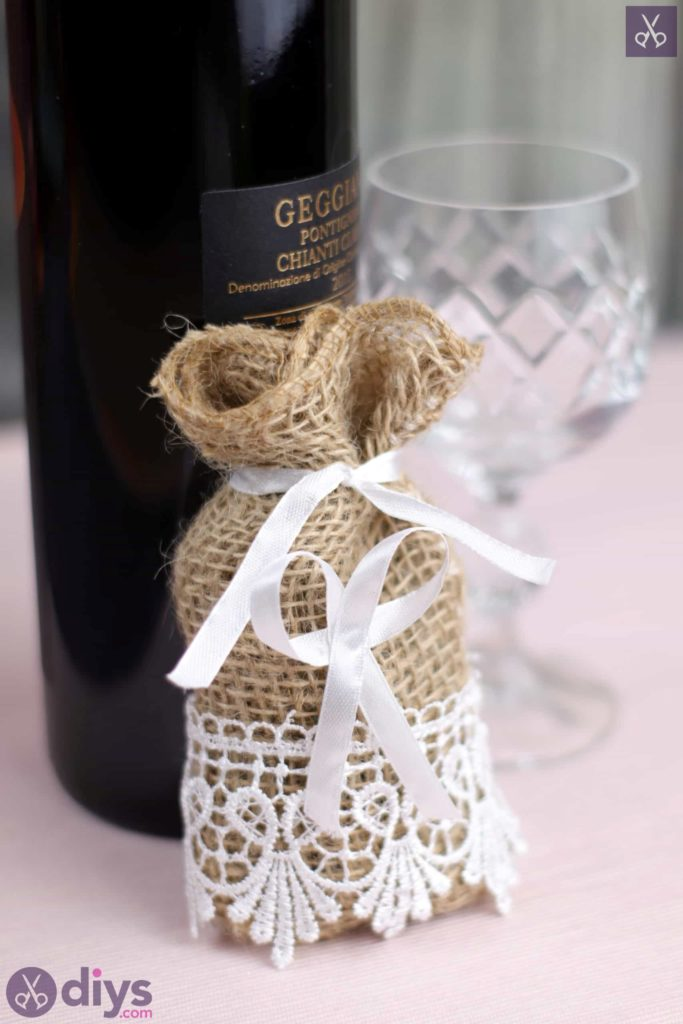 Diy rustic wedding favour bag country