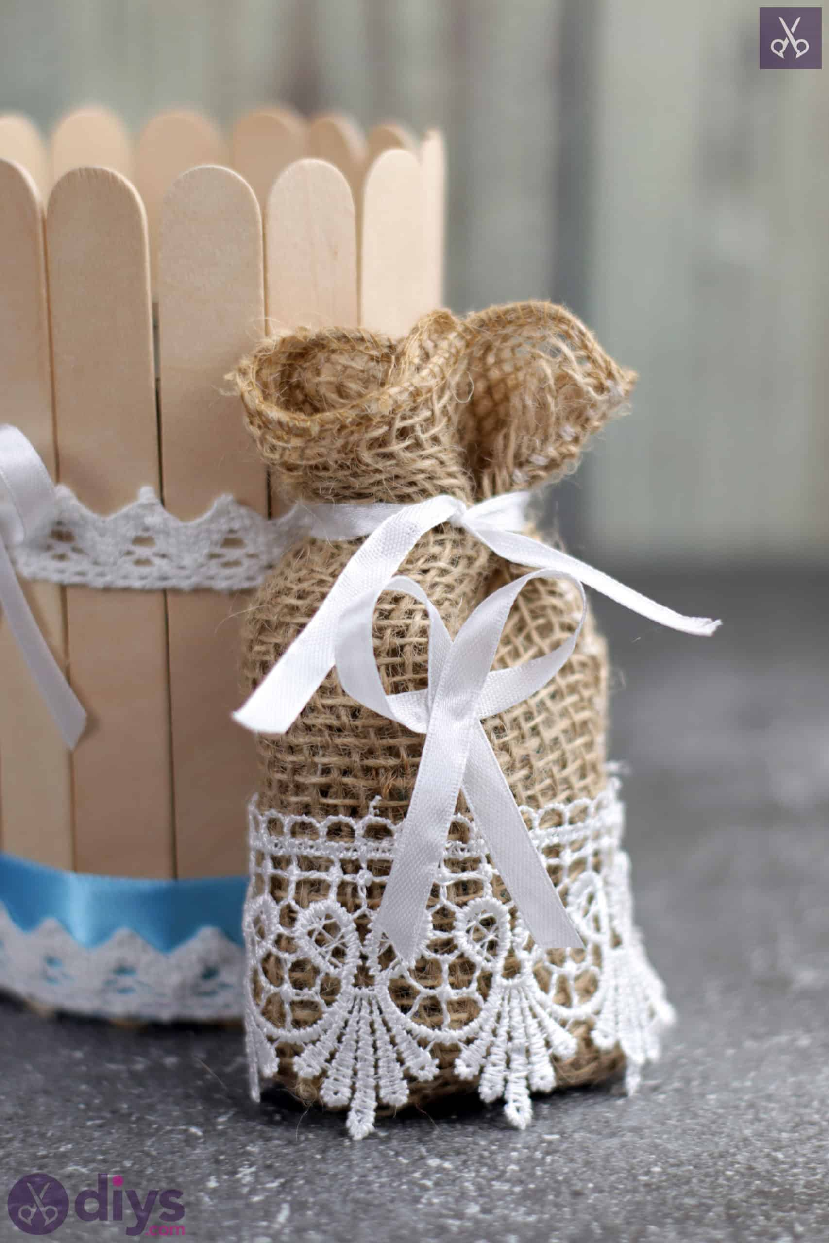 Diy rustic wedding favour bag craft